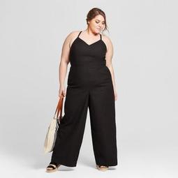 Women's Plus Size Side Button Jumpsuit - Universal Thread™ Black