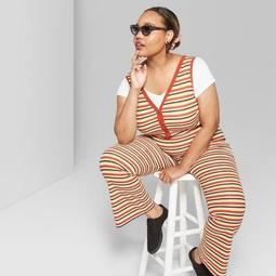 Women's Plus Size Striped Sleeveless Jumpsuit - Wild Fable™