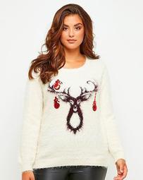 Joe Browns Funky Reindeer Sweater