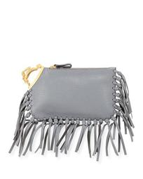 Aquarius Finger Clutch Bag with Fringe