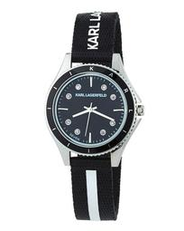 32mm Janelle Watch w/ Woven Strap, Black