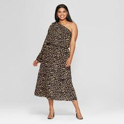 3a0ccd4439 Who What Wear Women s Plus Size Leopard Print Long Sleeve One