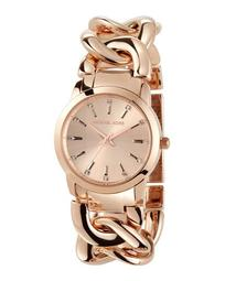35mm Elena Chain Bracelet Watch, Rose Golden