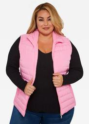 ASGIVES Breast Cancer Awareness Pink Puffer Vest