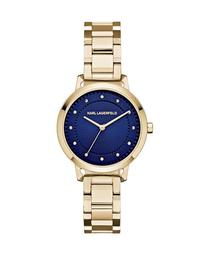 34mm Vanessa Bracelet Watch, Golden/Blue