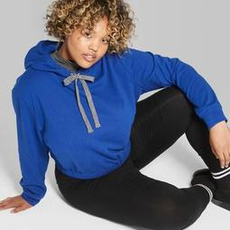 fbf26925cc5 Wild Fable™ Women s Plus Size Cropped Hoodie with Contrast Ties -