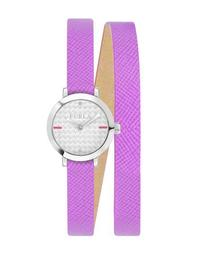 21mm Vittoria Wraparound Watch w/ Leather Strap, Purple