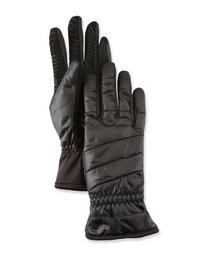 All-Weather Quilted Gloves w/ Faux-Fur Lining