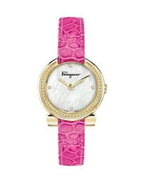 30mm Gancio Crystal Watch, Pink