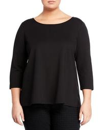 Back-Pleat Top, Plus Size