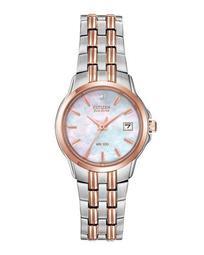 28mm Bracelet Watch w/ Date Window, Two-Tone