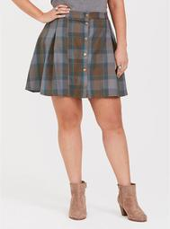 Outlander Mackenzie Plaid Mini Skirt