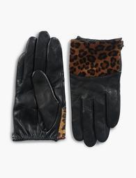 Leopard Haircalf Gloves