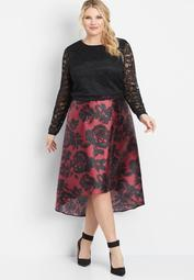 Maurices plus size two piece high low dress - On Sale for $34.50 (regular  price: $69.00)