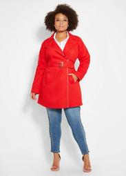Trench Coat With Stitch Detail