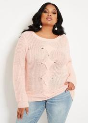 Cable Front Sweater