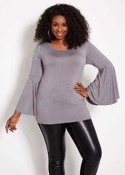 Bell Sleeved Tunic Top