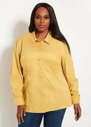 Basic Button Front Blouse