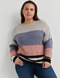 Bold Stripe Pullover