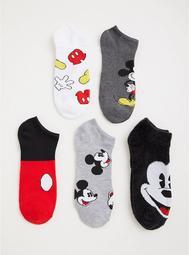 Disney Mickey Mouse Ankle Socks - Set of 5