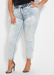 Acid Wash Denim Jogger