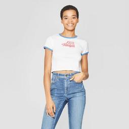 Women's Short Sleeve 100% Angel T-Shirt - Mighty Fine (Juniors') White