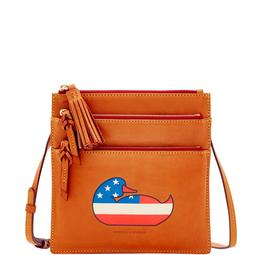 Duck Florentine Patriotic Triple Zip Crossbody