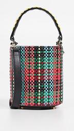 Baby Olivia Woven Tartan Bucket Bag