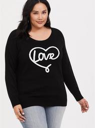 Black Love Heart Sweater