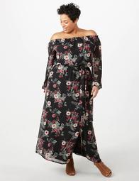 Dressbarn JONES STUDIO® Plus Size Floral Chiffon Maxi Dress - On Sale for  $40.59 (regular price: $57.99)