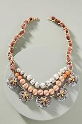 Anne Floral Bib Necklace