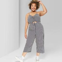 990688548f6e Wild Fable™ Women's Plus Size Striped Strappy Cinched Jumpsuit -