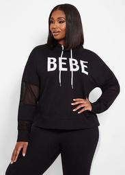 BEBE Mesh Logo Hoodie