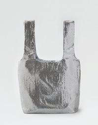 AEO Soft Metallic Tote Bag
