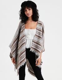AE Striped Blanket Cape