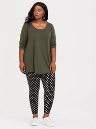 Black & White Polka Dot Crop Legging