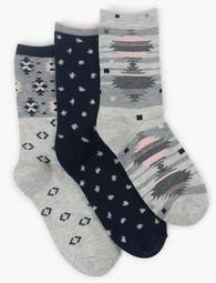 Womens Diamond Multi Sock