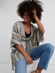 Belted Stripe Kimono
