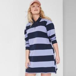 Wild Fable™ Women\'s Plus Size Striped Long Sleeve Rugby Polo Dress - Wild  Fable™ Purple/Navy - On Sale for $20.89 (regular price: $22.00)