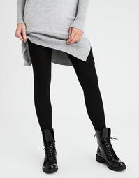 AEO Solid Fleece Lined Footed Tight