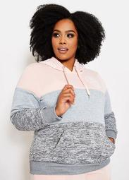 Color Block Love Fleece Hoodie