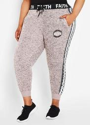 Faith Color Block Fleece Jogger