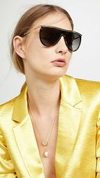 Half Moon High Brow Sunglasses