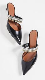 Eliza Crystal-Embellished Mules