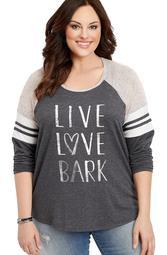 Plus Size Live Love Bark Graphic Pullover