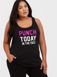 Black Wicking Punch Today Active Tank