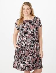 629e7039a2 Dressbarn Plus Size Floral Fit-and-Flare Dress