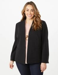 JONES STUDIO® Plus Size Hook-And-Bar Blazer