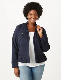 Plus Size Super Stretch Utility Jacket