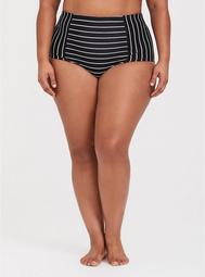 Striped High Waist Swim Bottom